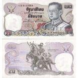 Billet de collection Thailande Pk N° 118 - 20 Baht