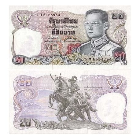 Billet de collection Thailande Pk N° 99999 - 20 Baht