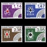 Serie di pre annulla francobolli N ° 182/85 Nuevo non linguellato