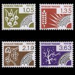 Timbres préoblitérés France Série N° 178/81 neuf sans charnière