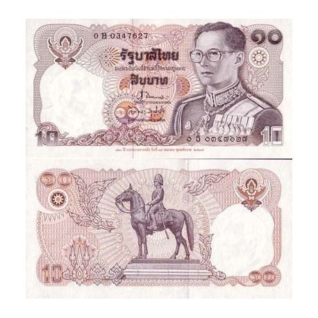 Billet de collection Thailande Pk N° 98 - 10 Baht