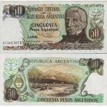 Los billetes de banco Argentina Pick número 314 - 50 Peso 1983