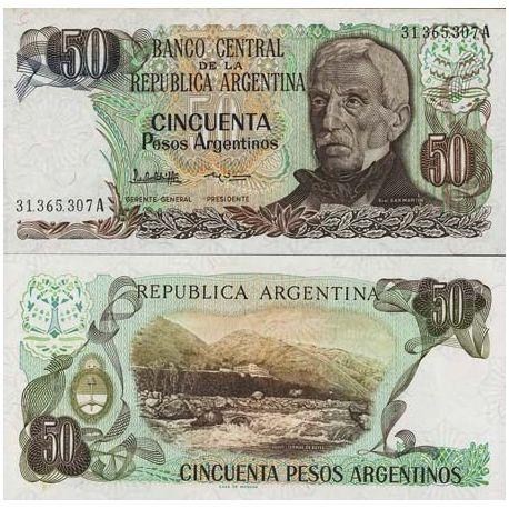 Argentinien - Pk Nr. 314 - Ticket von 50 Pesos