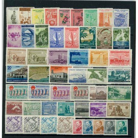 Timbre Turquie année complète 1955 neuve
