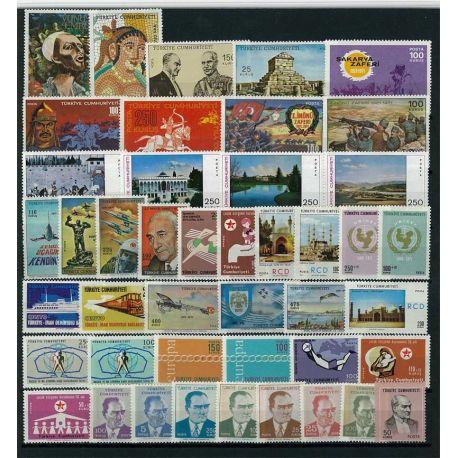 Timbre Turquie année complète 1971 neuve
