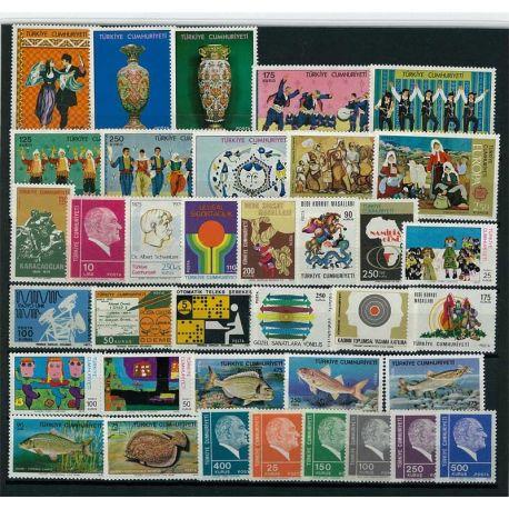Timbre Turquie année complète 1975 neuve