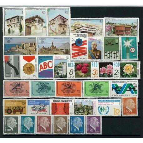 Turquie 1978 Année complète neuve