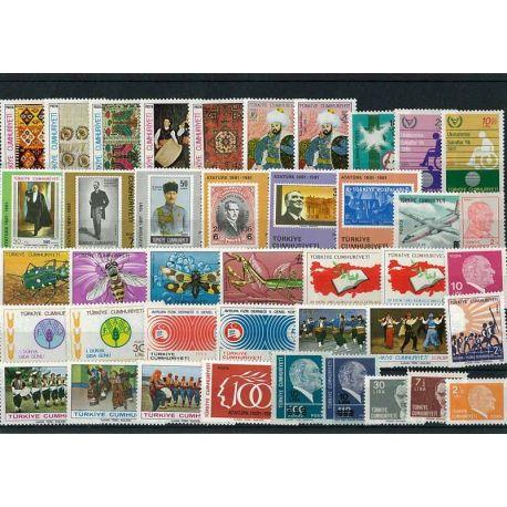 Timbre Turquie année complète 1981 neuve