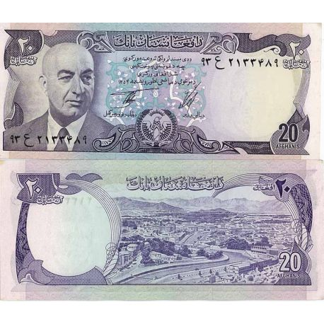 Billets de collection Billet de banque Afghanistan Pk N° 48 - 20 Afghanis Billets d'Afghanistan 10,00 €