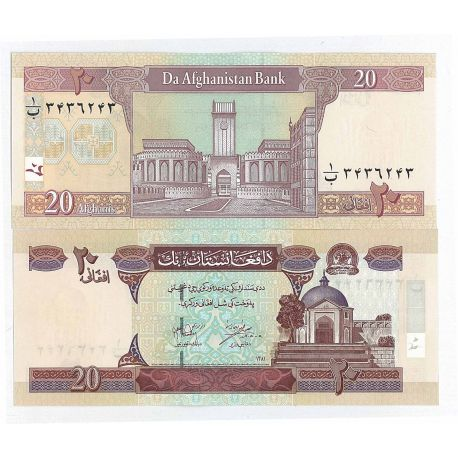 Billets de collection Billet de collection Afghanistan Pk N° 68 - 20 Afghanis Billets d'Afghanistan 3,00 €
