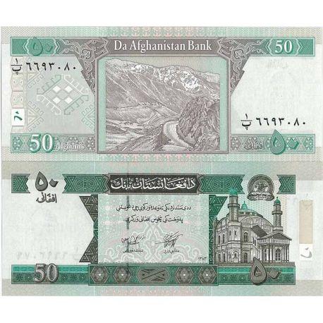 Billets de banque Afghanistan Pk N° 69 - 50 Afghanis