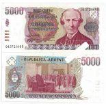 Billets banque Argentine Pk N° 318 - 5000 Pesos