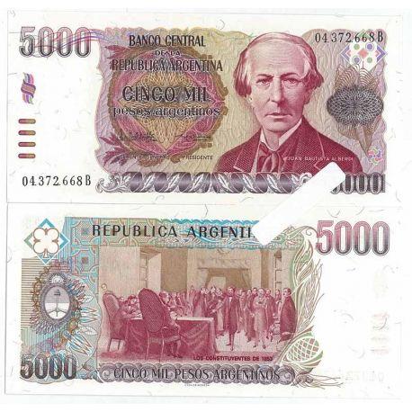 Billets de collection Billets banque Argentine Pk N° 318 - 5000 Pesos Billets d'Argentine 9,00 €