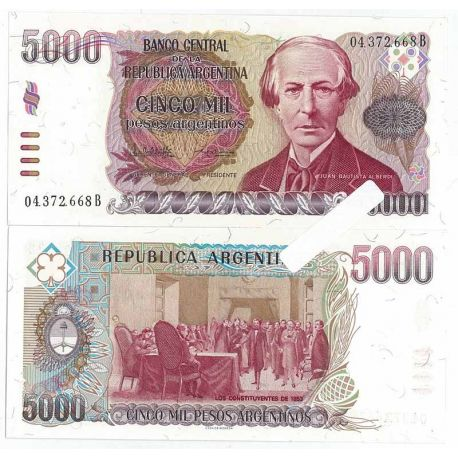 Argentine - Pk N° 318 - Billet de 5000 Pesos