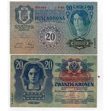 Billets de collection Billets banque Autriche Pk N° 53 - 20 Kronen Billets d'Autriche 8,00 €