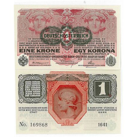 Billets collection Autriche Pk N° 49 - 1 Kronen