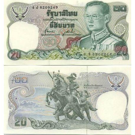 Billets de collection Billets banque Thailande Pk N° 88 - 20 Baht Billets de Thailande 4,00 €