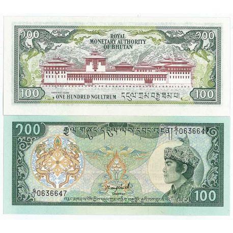 Billets banque Bhoutan Pk N° 18 - 100 Ngultrum