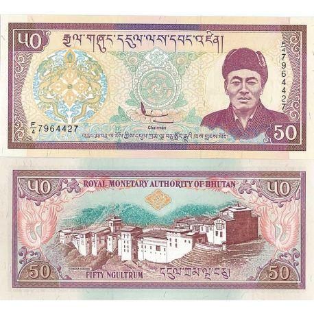 Bhoutan - Pk N° 24 - Billet de 50 Ngultrum