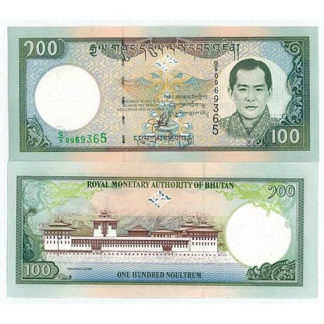 Billet de collection Bhoutan Pk N° 25 - 100 Ngultrum