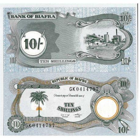 Billet de banque Biafra Pk N° 10 - 10 Pound