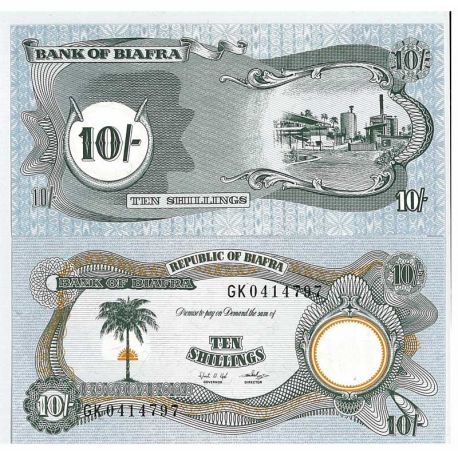 Biafra - Pk N° 10 - Billet de 10 Pound