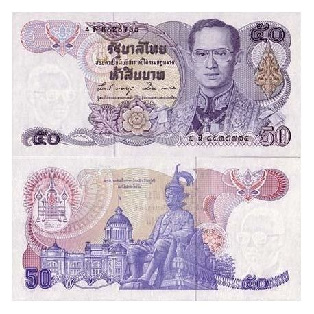 Billet de collection Thailande Pk N° 90 - 50 Baht