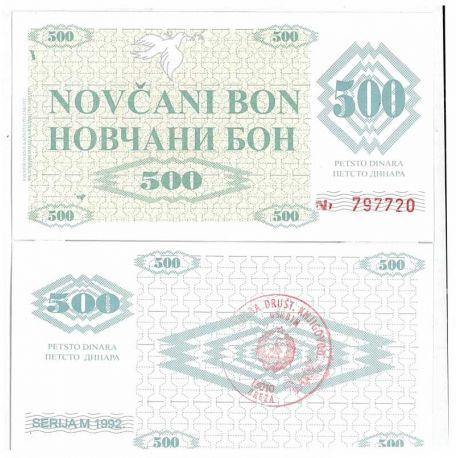 Billets de collection Billets collection Bosnie Pk N° 7 - 500 Dinara Billets de Bosnie 10,00 €