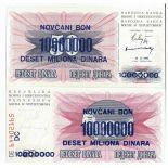 Banknoten Bosnien Pick Nummer 36 - 10000000 Dinara 1993