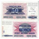 Billet de collection Bosnie Pk N° 36 - 10000000 Dinara