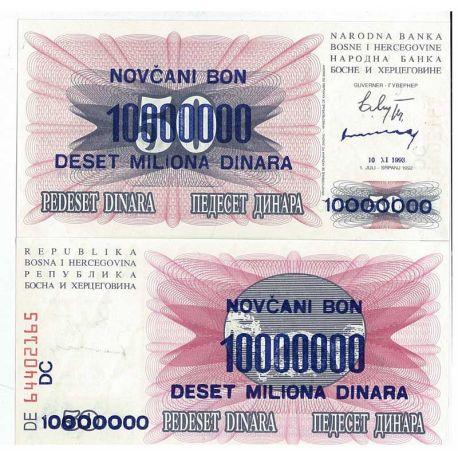 Billets de collection Billet de collection Bosnie Pk N° 36 - 10000000 Dinara Billets de Bosnie 3,50 €
