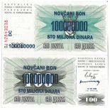 Billet de banque Bosnie Pk N° 37 - 100000000 Dinara