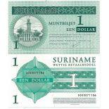Banknoten Sammlung Suriname Pick Nummer 155 - 1 Dollar