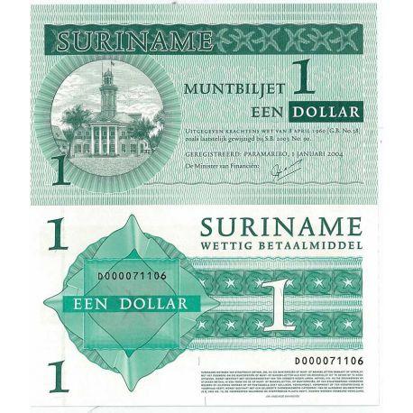 Billets de collection Billets banque Surinam Pk N° 155 - 1 Dollars Billets du Surinam 5,00 €