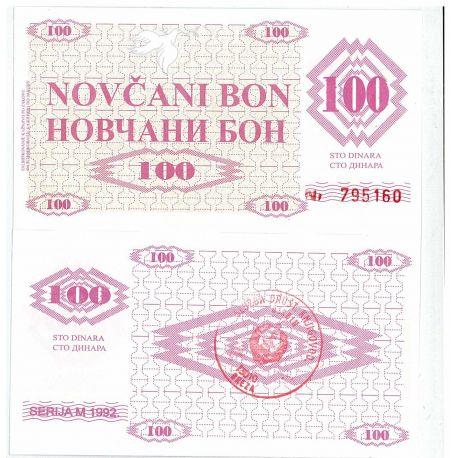 Billets de collection Billets banque Bosnie Pk N° 6 - 100 Dinara Billets de Bosnie 14,00 €