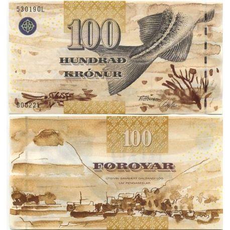 Feroe - Pk N° 25 - Billet de 100 kronur