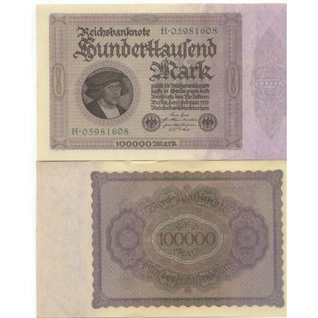 Billet Allemagne collection Pk N° 83 - Billet de banque 100000 Mark