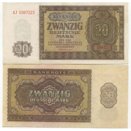 Billet de collection Allemagne De L'Est Pk N° 13 - 20 Mark