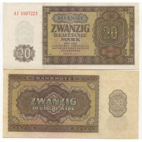 Allemagne De L'Est - Pk N° 13 - Billet de 20 Mark