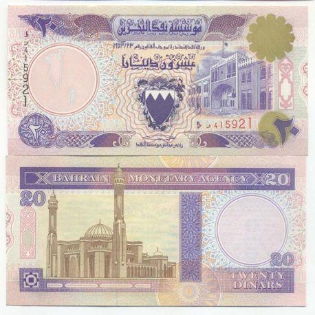 Billets de collection Billets de banque Bahrain Pk N° 16 - 20 Dinars Billets du Bahrain 45,00 €