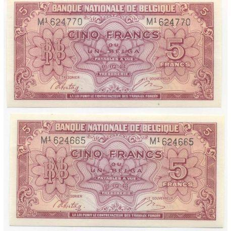 Belgique - Pk N° 121 - Billet de 5 Francs