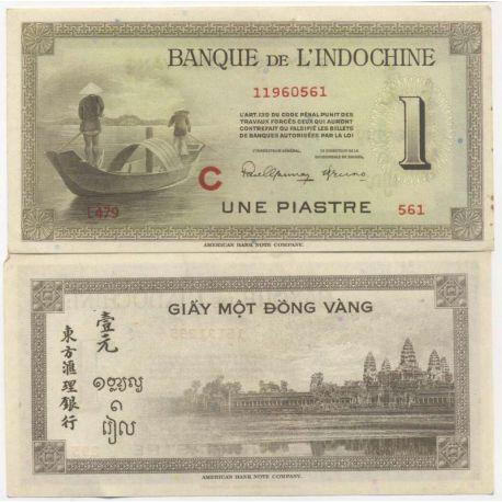 Billet de banque Indochine Pk N° 76 - 1 Piastre
