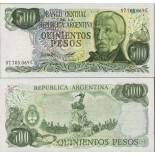 Collezione banconote Argentina Pick numero 303 - 500 Peso 1977