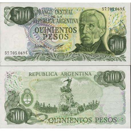 Argentinien - Pk Nr. 303-500 Pesos Anmerkung