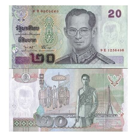 Billet de collection Thailande Pk N° 109 - 20 Baht