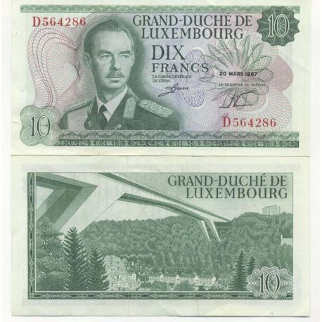 Billet de collection Luxembourg Pk N° 53 - 10 Francs