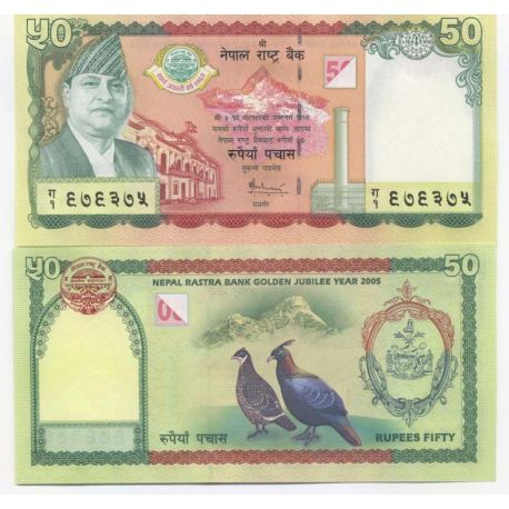 Billets de collection Billets collection Nepal Pk N° 52 - 50 Rupees Billets du Nepal 11,00 €