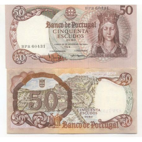 Billets de collection Billet de banque Portugal Pk N° 168 - 50 Escudos Billets du Portugal 24,00 €