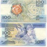 SammlungsBanknote Portugal Pk Nr. 179 - 100 Escudos