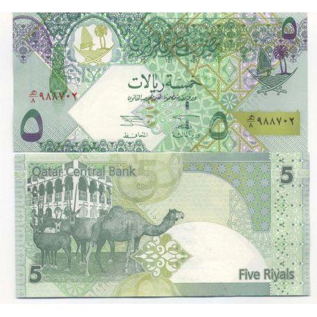 Billets de banque Qatar Pk N° 21 - 5 Riyals